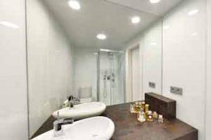 Fotografía esférica 360 de la reforma de un baño