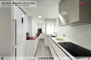 Realidad Virtual 360 de reforma en Cocina.