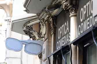 Visita virtual Google Street View 360 de la Óptica Comedias Zas Vision de Valencia