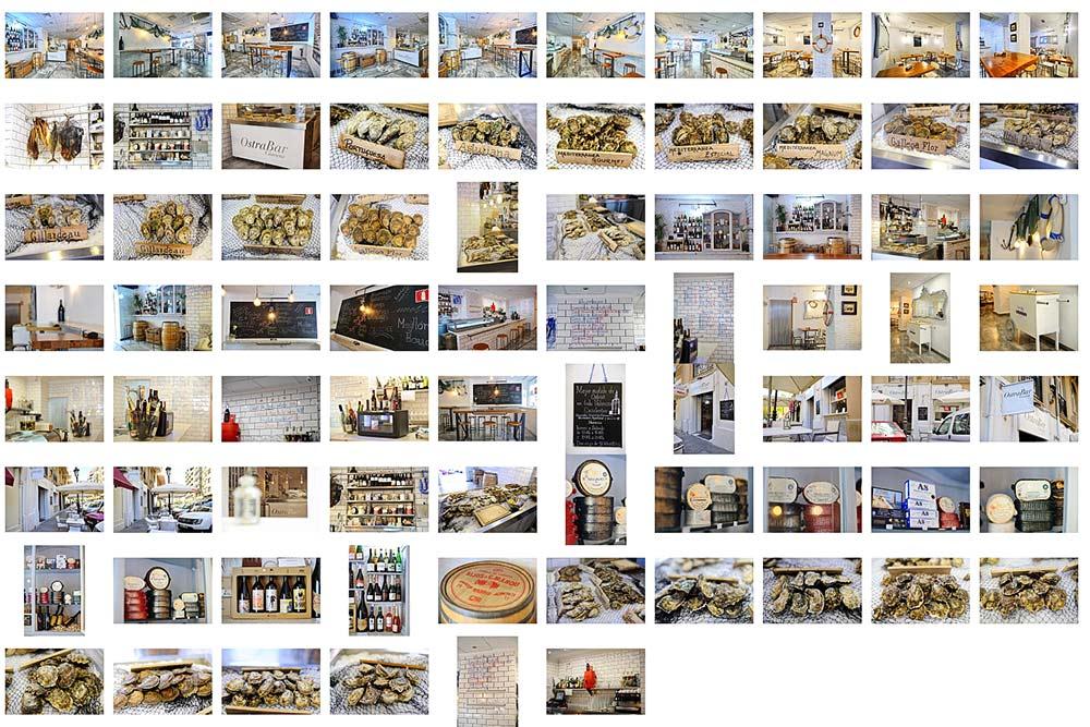 Fotógrafo 360 en Valencia. Restaurantes de Ostras.